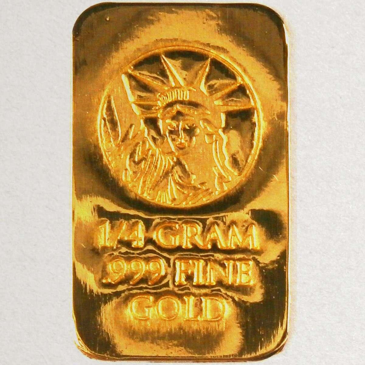 1/4 Gram (NOT GRAIN) 24K Gold  999 Pure