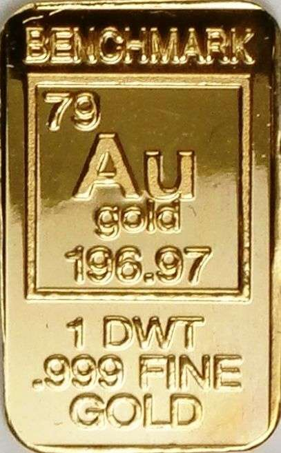 1 Pennyweight Or 20 Ounce Pure 24 Carat Benchmark Gold Bar
