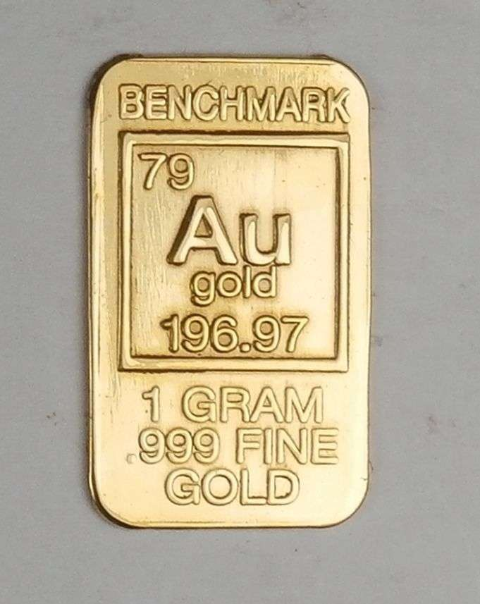 Gold One Gram Elemental Bar Pure 24 Carat 1 999 Bullion